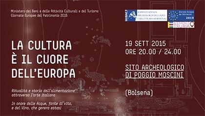 LA CULTURA E' IL CUORE DELL'EUROPA Evento legato a Expo 2015