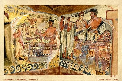 Tarquinia etrusca nell'arte di Adolfo Ajelli - SOPRINTENDENZA ARCHEOLOGIA DEL LAZIO E DELL'ETRURIA MERIDIONALE