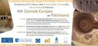 XXII Giornate Europee del Patrimonio